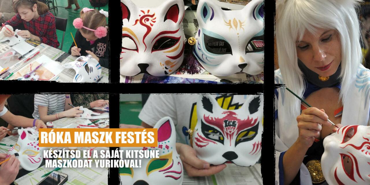 Róka maszk festés Yurikóval