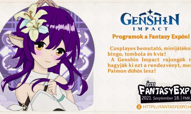 Genshin Impact programok a Fantasy Expón!